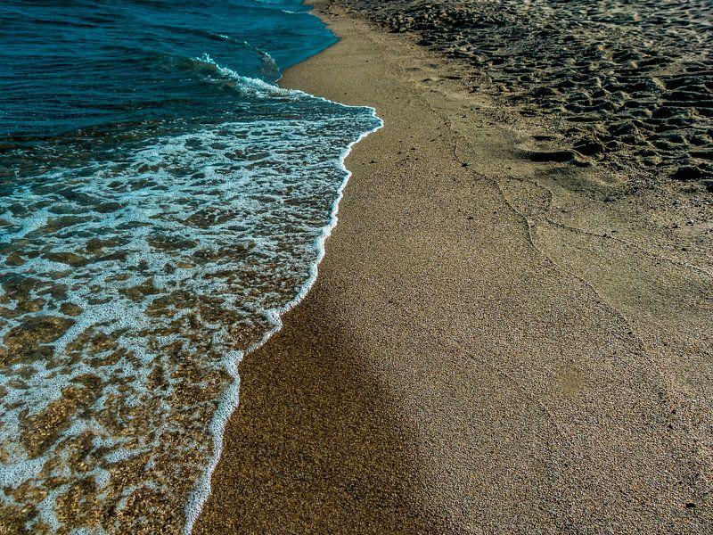 Op het strand van Koop je Canvas
