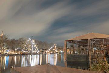 Winteravond lichtjes aan de Piushaven van Freddie de Roeck