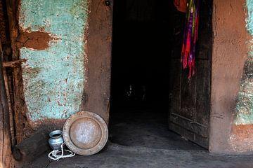 Muur in mint en bruine tinten van Affect Fotografie
