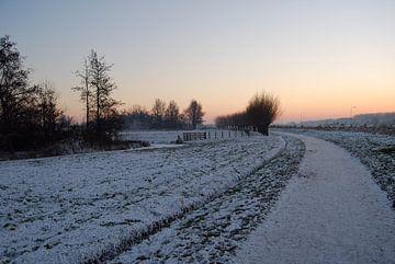 Het Weegje in de Winter  van Jorg van Krimpen