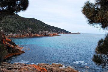De rode kust van Tasmanie, Australië van Be More Outdoor