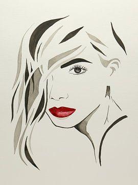 Lèvres à embrasser sur Natalie Bruns