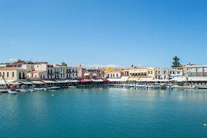 Kleurrijke Haven in de Stad Rethymnon (Kreta) van