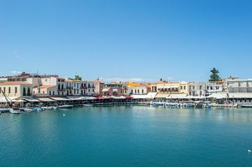 Kleurrijke Haven in de Stad Rethymnon (Kreta)