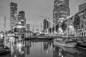 Rotterdam Wijnhaven - einfarbig von Frans Blok
