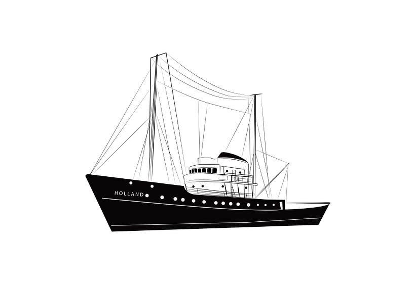 Poster Seeschlepper Holland PESK von Studio Tosca