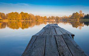 Steiger bij het meer, Bosnië-Herzegovina