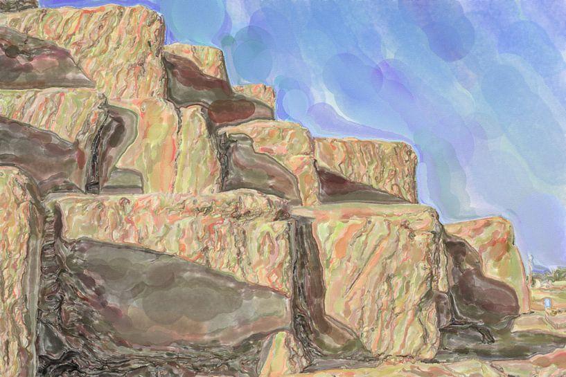 Piramide stenen van Frank Heinz