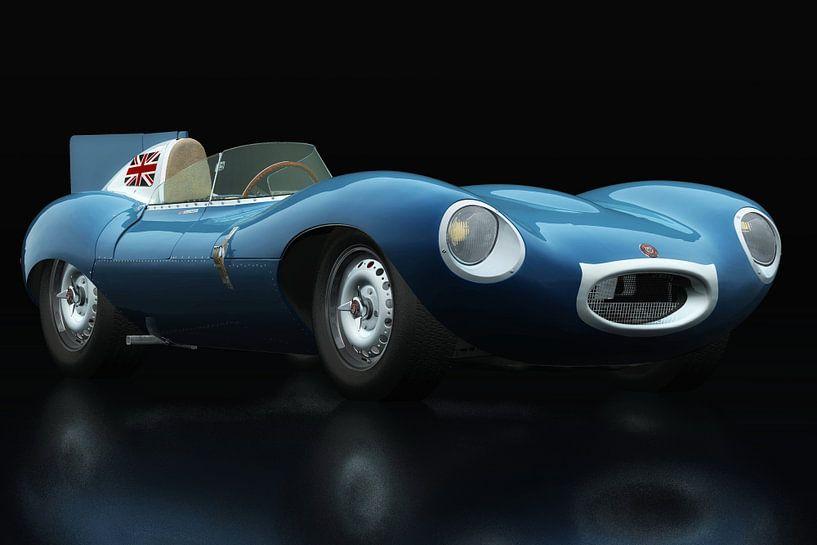 Jaguar Type D 1956 driekwart aanzicht van Jan Keteleer