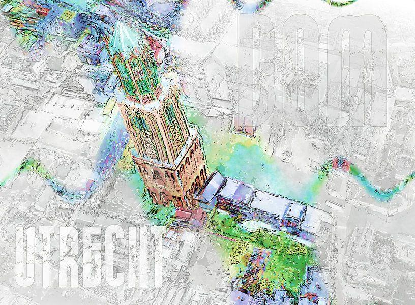 Dom Utrecht kunst collage  van Kunst Company