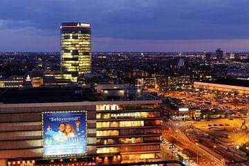 De Jaarbeurs en de Rabotoren in Utrecht sur Donker Utrecht