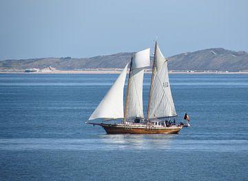 Zeilschip voor de kust von Pieter Korstanje