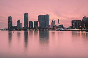 Pink sunset in Rotterdam