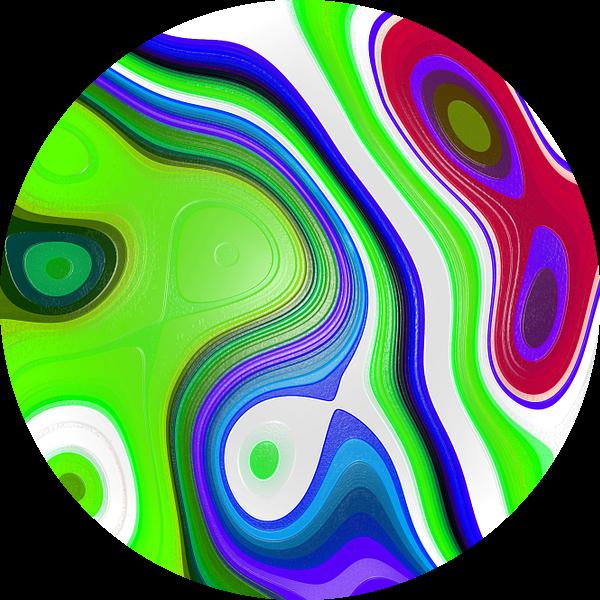 Colored Fractal 1 van Gerrit Zomerman