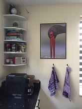 Kundenfoto: Porträt des trinkenden Schwarzstorchs (Ciconia nigra) von Nature in Stock, auf poster