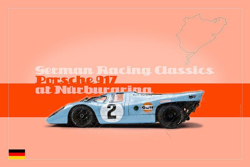 Porsche 917 auf dem Nürburgring, Deutschland von Theodor Decker