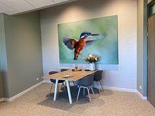 Klantfoto: IJsvogel van Linda Raaphorst, als print op doek