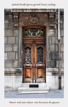 Tür mit entsprechenden Spruch von Anouschka Hendriks