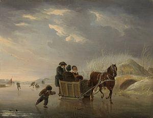 Sledevaart op het ijs, Andries Vermeulen