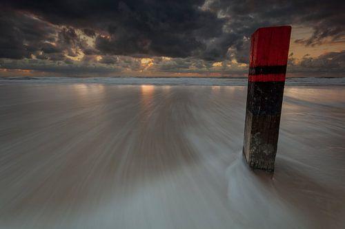 Paal 25 strand Texel van