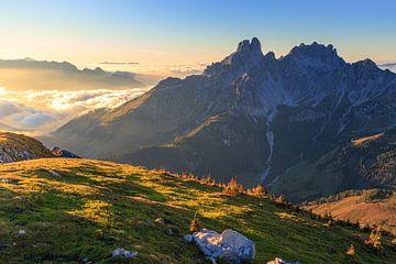 """Paysage de montagne """"L'heure d'or"""" (The Golden Hour) sur Coen Weesjes"""