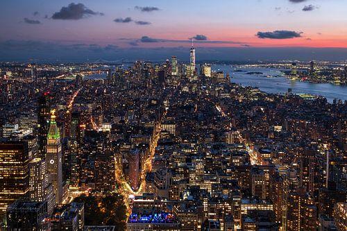 Stadtübersicht auf New York van Kurt Krause
