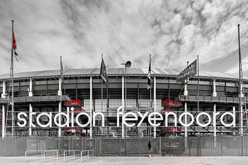 Vooraanzicht Feyenoord Stadion De Kuip Rotterdam-Zuid 2020 van Mario Brussé