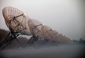 Radiotelescoop en natuurgebied Westerbork van Ronald Pieterman