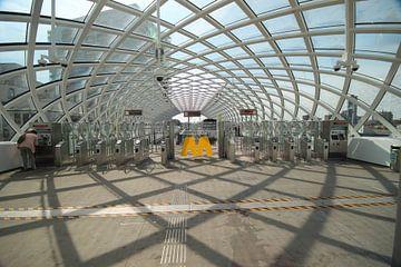 Nieuw metro station voor Randstadrail in Den Haag bij het Centraal station
