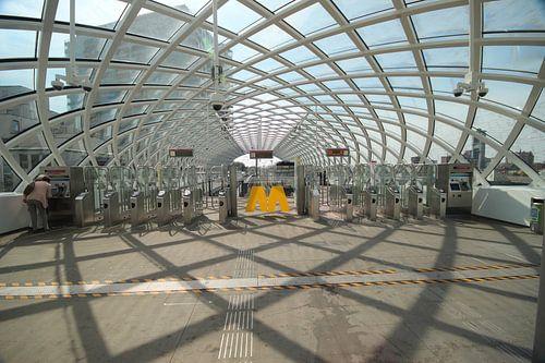 Nieuw metro station voor Randstadrail in Den Haag bij het Centraal station van