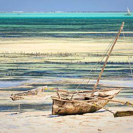 Voilier traditionnel sur la côte de Zanzibar sur Mariette Kapitein