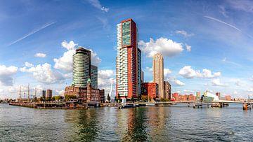 De skyline van Kop van Zuid (Rotterdam, NL) van Martijn Mureau