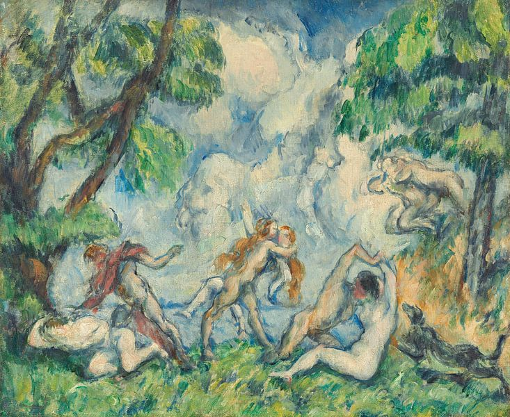 Paul Cézanne. Battle of love, 1880 van 1000 Schilderijen