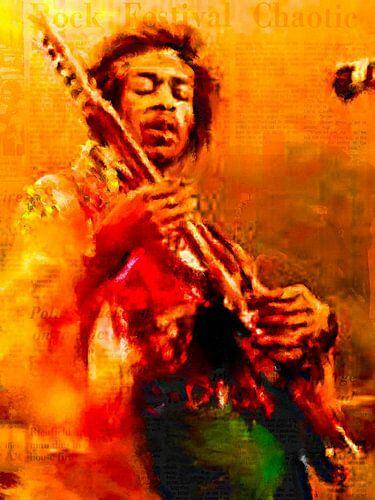 Jimi Hendrix Pop Art van Leah Devora