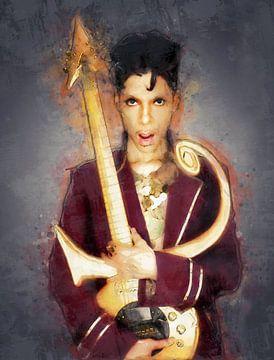 Olieverf portret van Prince van Bert Hooijer
