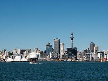 Uitzicht op Auckland, Nieuw-Zeeland van Frank den Hond