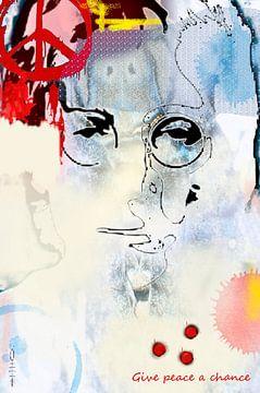 John Lennon sur Dray van Beeck