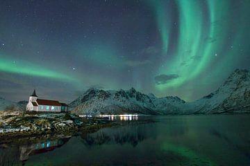 Noorderlicht in Noorwegen van margriet kersbergen
