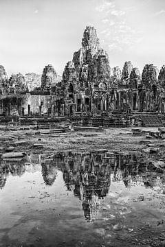 ANGKOR WAT, CAMBODIA, DECEMBER 5 2015 - Ruines van de Bayon tempel in Angkor Wat te Cambodja. One2ex sur
