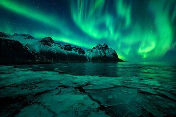Nordlicht in Island von Michiel Dros
