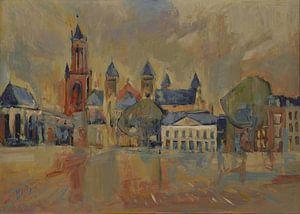 Sankt Servatius auf dem Vrijthof in Maastricht von Nop Briex