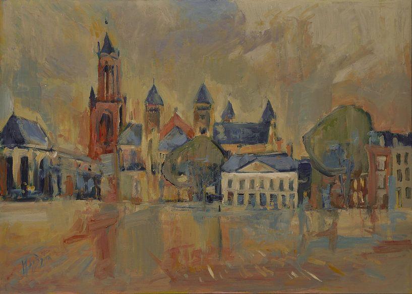 Saint Servatius sur le Vrijthof à Maastricht sur Nop Briex