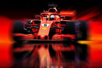 Sebastian Vettel #5 - Germany (2018) van Jean-Louis Glineur alias DeVerviers