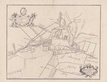 Plattegrond van de stad Utrecht en fortificaties, anoniem, 1856