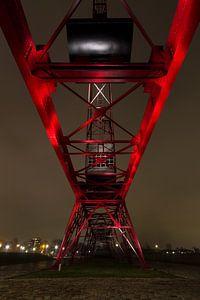 Kraanbaan bij nacht van Steven Langewouters