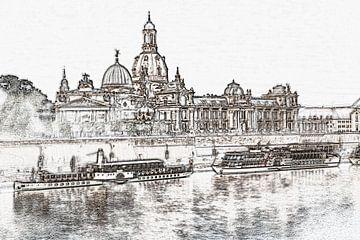 Dresden in de ochtend van Gunter Kirsch