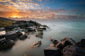 IJsselmeer  bij ondergaande zon. von Ron Hoefs