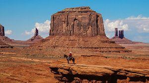 Monument Valley mit Navajo Indianer