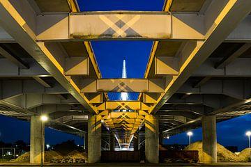 Clausbrug Utrecht van Utrecht by Night