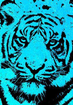 Tiger blue von PictureWork - Digital artist